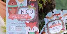 Kit Bosque Encantado Imprimible Varón / Printable Party Kit Enchanted Woodland Forest Boys / Decoraciones imprimibles para tus celebraciones. Podés comprar y descargar el kit en:  www.printingaparty.com