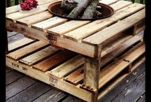 Backyard ideas / Pallet porch/patio Steph's Ladycave Garden walkways Backyard lighting  / by Shorty