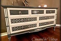 Repainted furniture / Inspiracje mebli w moim stylu