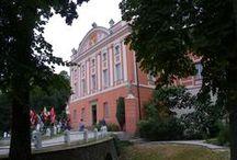 Góry Świętokrzyskie cz.5 /POLAND / Ruiny pałacu Tarłów , Pałac w Kurozwękach.Siedziba rodu Popielów.