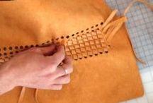 Leder Taschen nähen, sewing leather bag