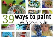 Art for kids / Ideas for open-ended, process art for kids in preschool, kindergarten, and elementary school / by The Measured Mom