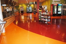 Seamless floors for Cafeterias
