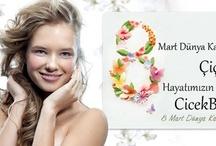 Kadınlar Günü Çiçekleri / 8 Mart Dünya Kadınlar Günü Çiçekleri 8 Mart Dünya Kadınlar Günü... Kadınlar hayatımızın en özel varlıklarıdır... Kimi annemiz, kimi hayatımızın en büyük aşkı, kimi kız kardeşimiz, kimi ise göz bebeği kızımız.... Hayatımızın en önemli varlığı olan kadınlara bir kez daha özel olduklarını hatırlatmak için 8 Mart Dünya Kadınlar Günü için bu özel günde onların, tarihin hemen her döneminde verdikleri mücadeleleri desteklemek için birbirinden güzel çiçekleri Dünya Kadınlar günü İçin hazırladık.