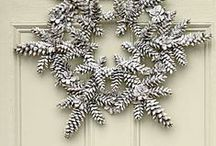 Interesting Wreaths & Holiday Decor / Pine Cones, Wreaths, garlands, wall decor, holiday decor, Holiday Trees, Christmas Decorations, Halloween, Thanksgiving