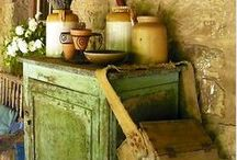 Country Primitives/Farm Life / Vintage country settings, furnishings, utensils, and decorating. / by Lorraine Curran