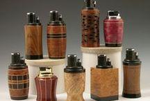 Lighters - Segmented Woodturning / Handmade cigar lighters and cigarette lighters for the discerning smoker.  segmenting, segmented, woodturning, woodworking  Don Leman
