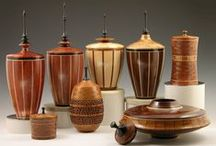 Urns, Lidded Vessels - Segmented Woodturning / Enjoy these lidded vessels as an art piece to display in a prominent location or memorialize a loved one or dearest pet with a commemorative urn.  Don Leman