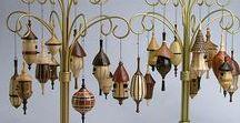 Birdhouses - Ornaments - Segmented Woodturning / Birdhouses, Ornaments.  Woodturned, handcrafted, one-of-a-kind ornaments, birdhouses.