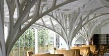 Interesting Architectural Trees & Shade Structures / Tree-like structures, structural support, tree designs