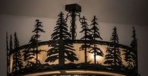 Beautiful Lodge Lighting - Ranch Lighting / Rustic Lodge Lighting, Log Cabin Lighting, Ranch lighting, Cowboy Lighting