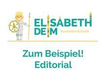Zum Beispiel! Ediorial Illustration / Anwendungsbeispiele der Illustration im Bereich Editorial, Magazin, Zeitschrift,...