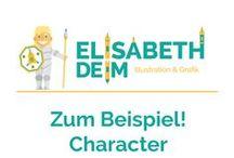 Zum Beispiel! Character Illustration / Anwendungsbeispiele der Illustration im Bereich Character Design, Sympathiefigur, Maskottchen,...