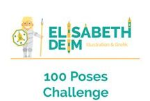 100 Poses Challenge / 100 Poses in 100 Days //  Reference Poses by ELISABETH DEIM