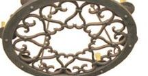Beautiful Wrought Iron Pendant Lights / Wrought Iron Light Fixtures, Black Iron Lighting