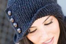 Klobouky, čepice, barety  - šité, háčkované plstěné,..