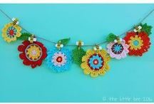 Bunting and garlands / Brighten up your room, party or any space with a funky bunting or garland from The little bee!