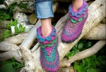Slippers / Comfy soft-soled slippers for around the house. Handmade for babies, kids & adults