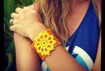 Cuffs / Add interest to your outfit with an elegant fine crochet wrist cuff from The Little Bee :)
