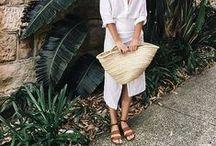 basket bag(かごバッグ) / かごバッグのおしゃれなコーデまとめ。かごのファッション好きにはたまらないカゴバッグコーデ画像です。