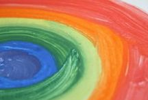 Rainbows and St. Patrick's Day / St. Patrick's day ideas for kids, rainbow crafts and play for kids, Luck of the Irish, good luck, and all things green!