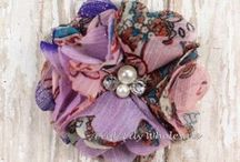 Flowers and More Flowers / Flower heads, shabby flower trim…everything floral to create beautiful DIY creations!