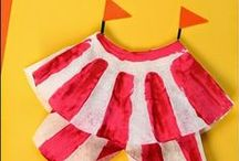 Circus Crafts & Activities for Kids / Circus activities, circus crafts, circus books, gmaes, circus and carnival party theme for kids.  These are fun activities to do before visiting the circus.