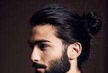 HAIR (Men) / long hair, short hair, undercuts, dreads, pompadours etc.