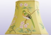 Hand Painted Silk Lamp / Handpainted Silk Lampshades