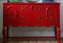 Painted older furniture