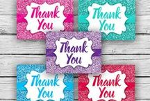 Thank You Cards / https://www.etsy.com/shop/MADEbyMykeall?section_id=17118277