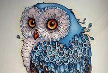 Always like an owl / Chouettes.  Leurs plumes, leurs yeux, leurs vols, leurs cris sont un monde à  part...