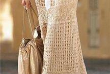 Vestuários de crochê / Vestuários de crochê.