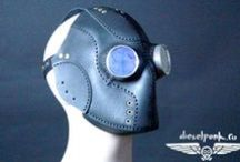Dieselpunk.ro / steampunk mask, Cyberpunk, Cyber Goth, make up, goggles, cyber goth girl, punk girl, cyberpunk girl, post-apocalyptic, post-apocalypse, black, steampunk, face mask, leather mask, hand made, dieselpunk, leather, gace guard, cosplaY
