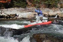 River SUP / Whitewater and river stand up paddleboarding.