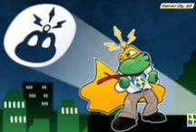 Signal the Frog - Geocaching / Signal is the mascot of geocaching.  Here are some pictures of him from around the web!