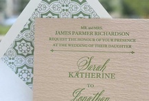 Wedding Ideas...Invites + Paper Elements / by Erin Pate