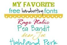 Fonts and Freebies