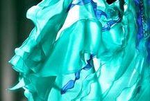türkiz és kék  - turquoise and blue