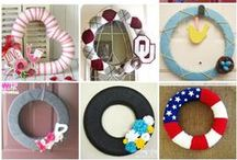 Wreaths / This board is nothing but wreaths for every season!
