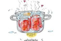 Food: Canning, freezing and jam making. / learning the trade of conserving my produce! / by Cecilia Bowerman