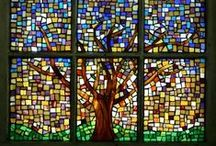 Home: stain glass and mosaic. / Elegant stain glass  windows and doors, stunning mosaic works of art!! / by Cecilia Bowerman