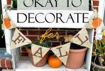 Happy Fall Ya'll / Fall, Halloween, and Thanksgiving decorating ideas.