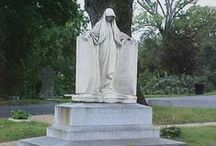 Cemetaries and Statues / I find old cemeteries places of beauty. The statues belong in museums and the graves tell a story.