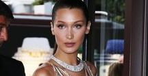 Bella a.k.a. Isabella Khair Hadid PALESTINIAN DUTCH / Bella Hadid (born October 9, 1996) is an American fashion model, signed to IMG Models in 2014. In December 2016, the Industry voted her for Model.com's Model of the Year 2016 Awards. Walks: 1 in 2016. Bella was born to a California real-estate developer Mohamed Hadid and former model Yolanda Hadid. Her mother is a Dutch-born American, and her father is Palestinian American. Hadid has two siblings, an older sister named Gigi, who is also a model, and a younger brother, Anwar.