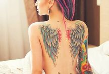 Tattoos and feathers / Tattooed and beautiful
