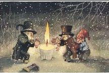 Gnomes, elves, fairies / Magical illustrations