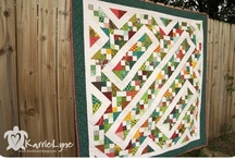 Charm block quilt