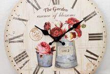 Nástěnné hodiny styl provence