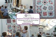 Patchwork and Quilting Courses / We will be running a number of courses during the year at our home shop in Harpenden AL5 2RG